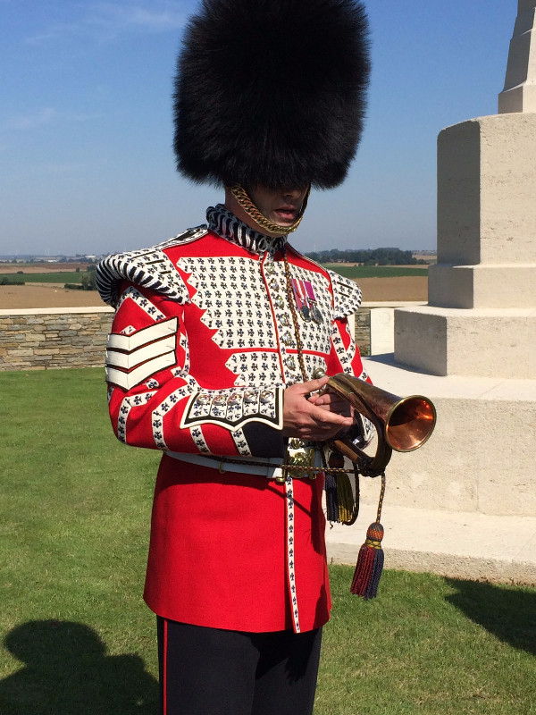 Formal burial for Welsh Guard killed during First World War.