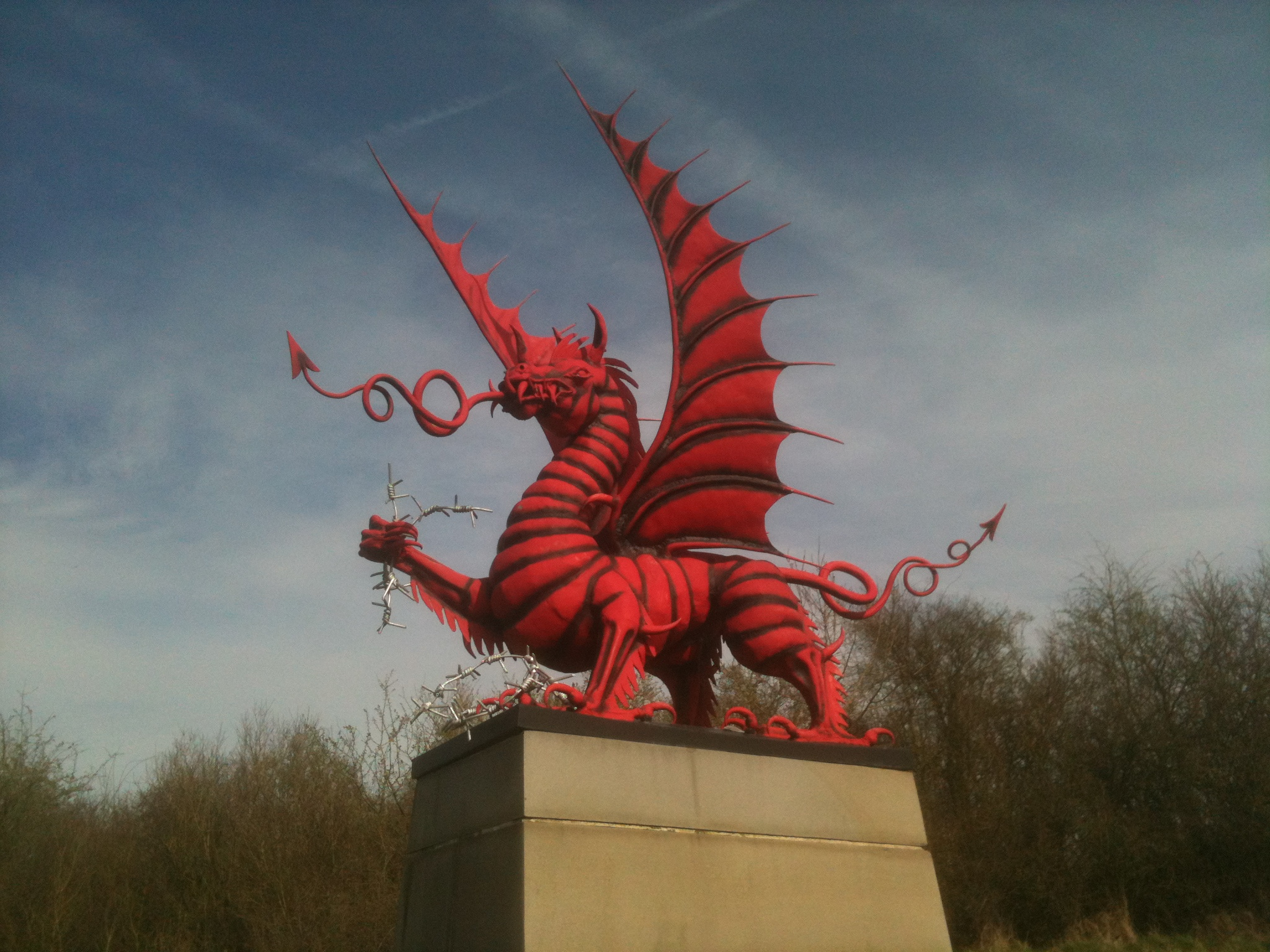 welsh dragon at mametz wood