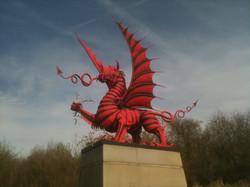 welsh dragon at mametz wood
