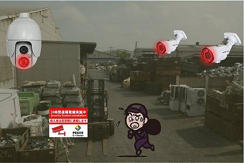 工場,防犯カメラ,セキュリティシステム,防犯対策,フードディフェンス