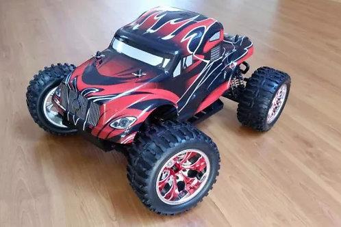 Carro elétrico 1:10 HSP Monster Truck vermelho/preto Normal ou Brushless