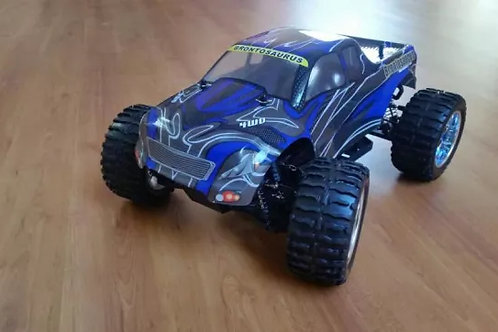 Carro elétrico 1:10 HSP Monster Truck azul Normal ou Brushless