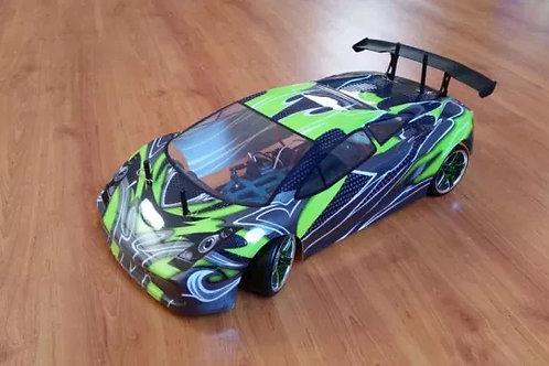 Carro elétrico 1:10 HSP Lamborghini verde Pista ou Drift, Normal ou Brushless