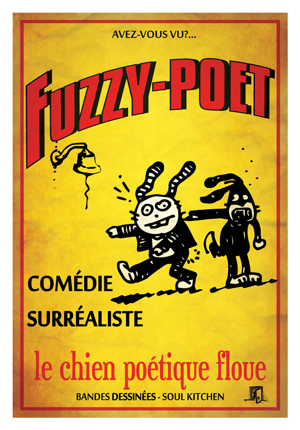 Fuzzy Poet French Poster (C) 2015 Drew Gold. All rights reserved.