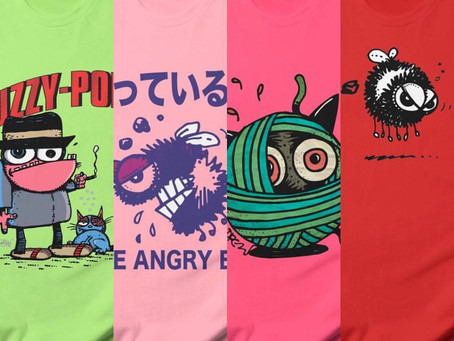 FUNKY AND FUZZY SCREENED TEES