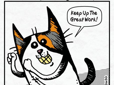 Motivational Housecat™, Strip 2, April 25th, 2017