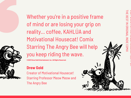Ride The Wave With Drew Gold and Motivational Housecat! Comics