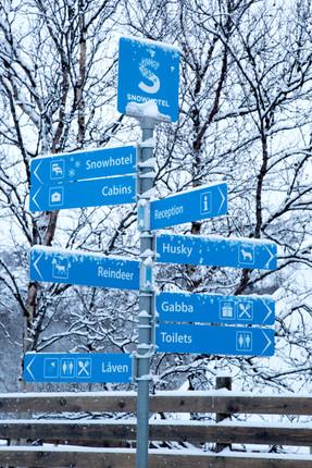 Skilt Kirkenes Snowhotel
