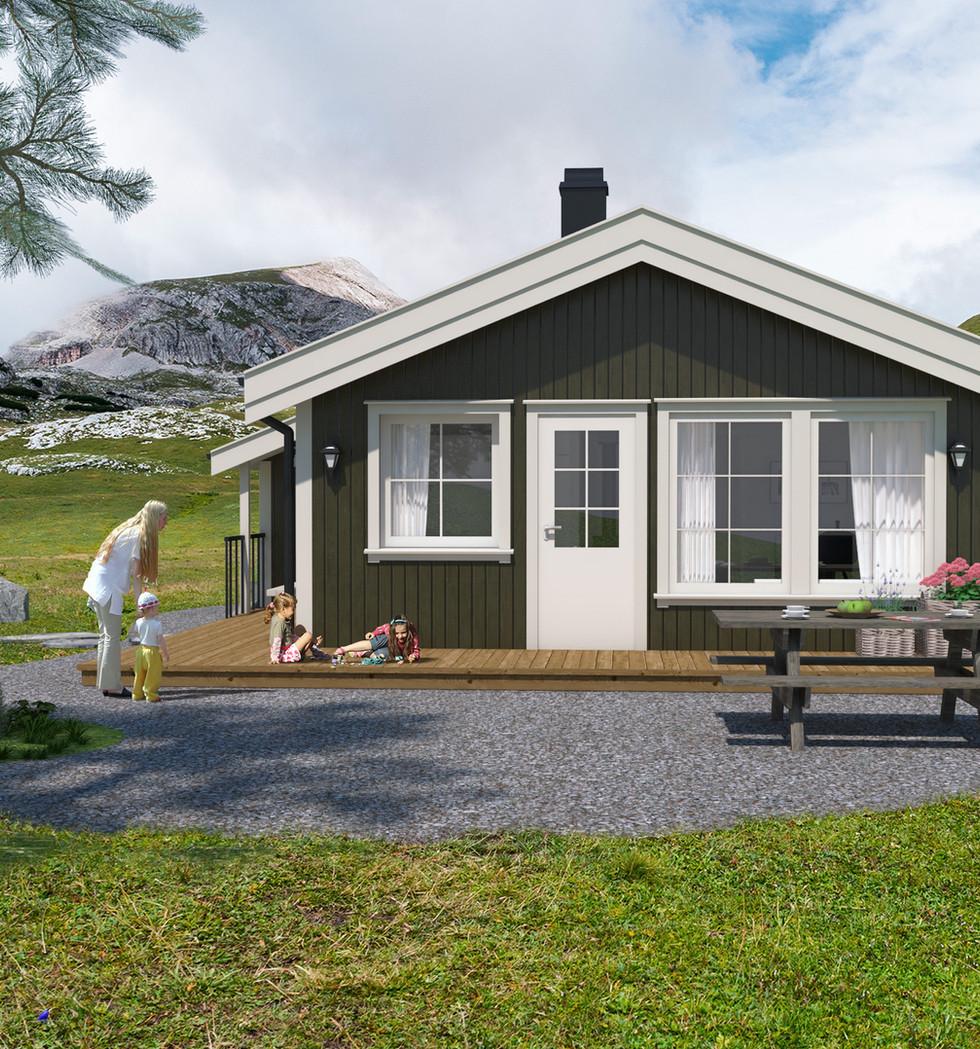 Vår serie med tradisjonelle hytter fremstår som moderne og innholdsrik.