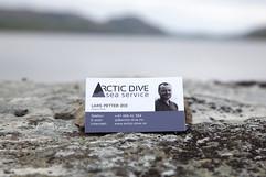 Visittkort Arctic Dive