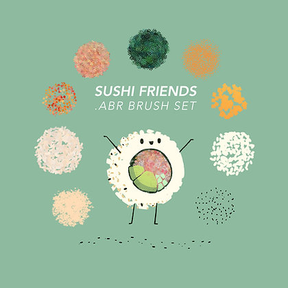 Sushi Friends .ABR Brush Set