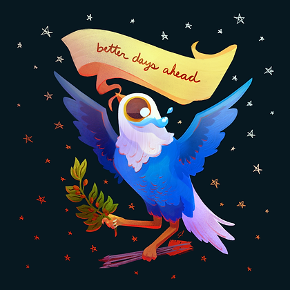 Better Days Ahead Holo Sticker