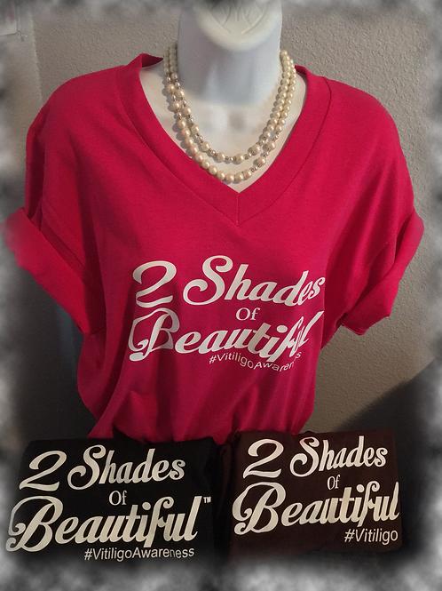 2 Shades of Beautiful: Vitiligo T-Shirt