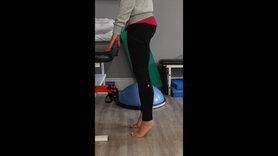 Stabilized calf stretch