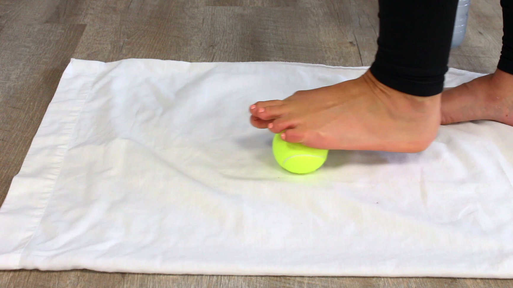 Tennis ball stretch