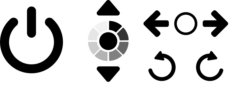 Lo-fi prototype chair icons