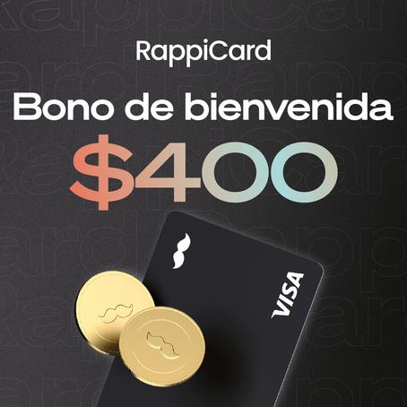 ¿Cómo puedo recibir el bono de bienvenida de mi RappiCard?