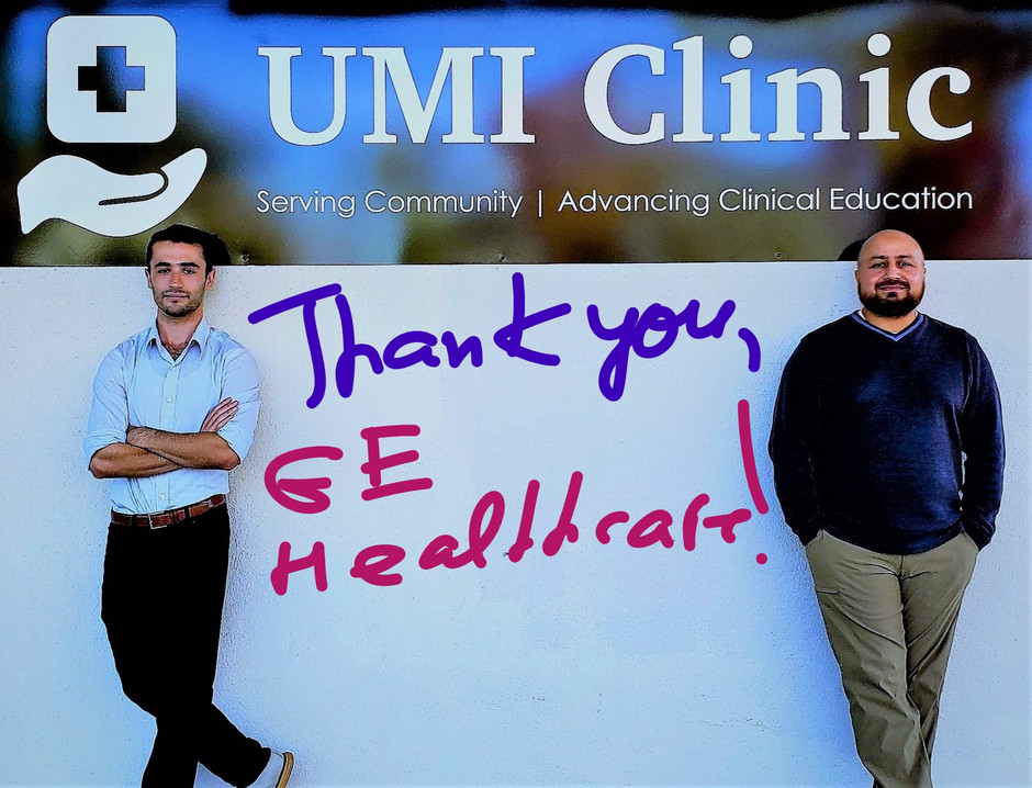 UMI CLINIC RECEIVES $7500 DONATION FROM GE HEALTHCARE!