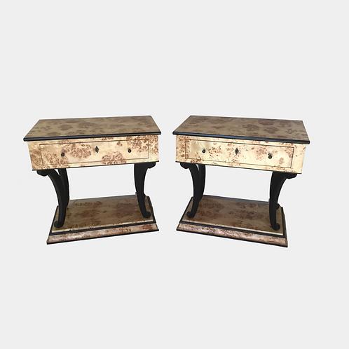 Mappa Burl & Ebony side tables