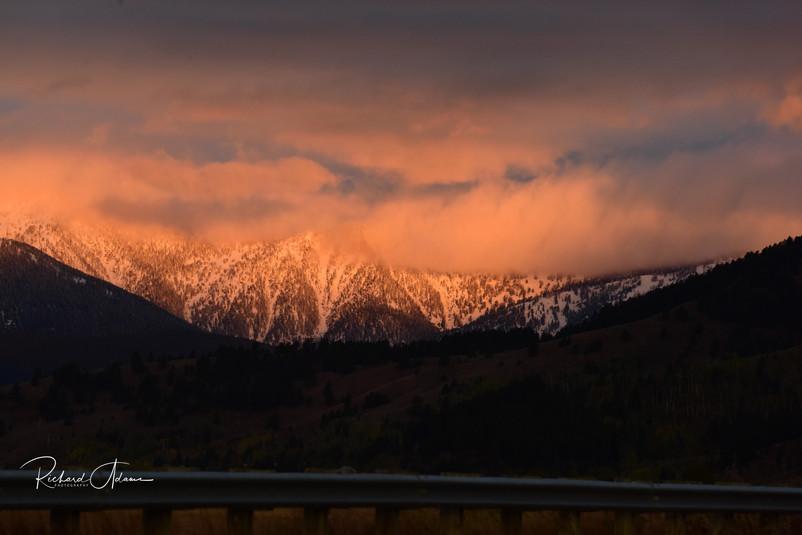 Sunset on Winter