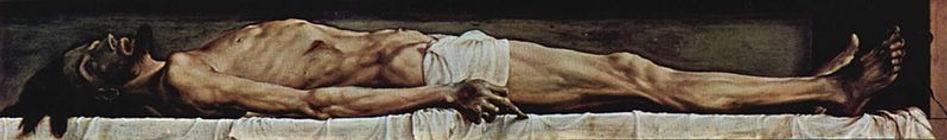 """""""גופתו של ישו בקברו"""" של האנס הולבריין – ציור """
