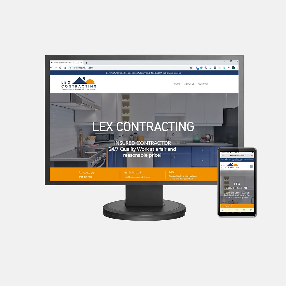 Lex Contracting - Client Website