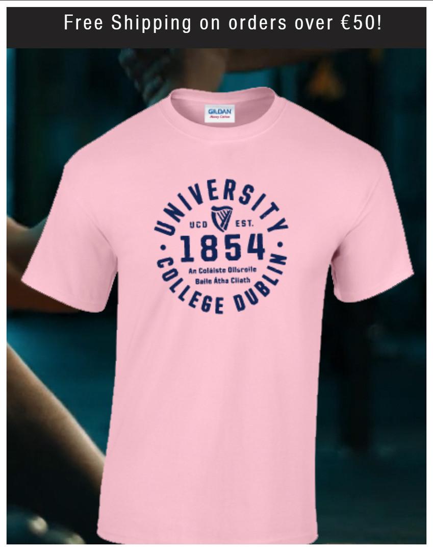 Pink UCD 1854 Tshirt