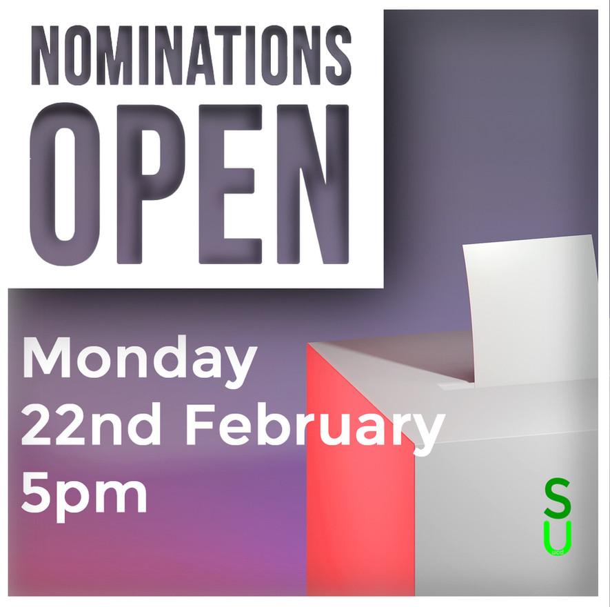 Exec Elections - Nominations Open Briefing