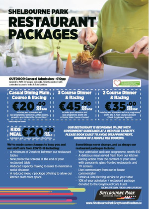 Shelbourne Park Resaurant Packages