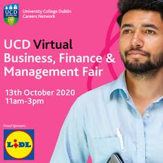 UCD Virtual Business, Finance & Management Fair