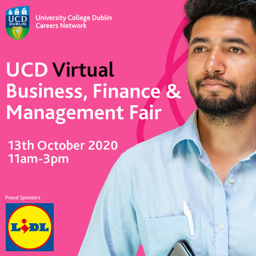UCD Virtual Business, Finance & Management Fair
