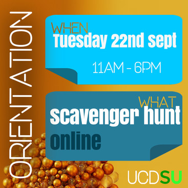 UCDSU Scavenger Hunt! 22nd Sept 2020