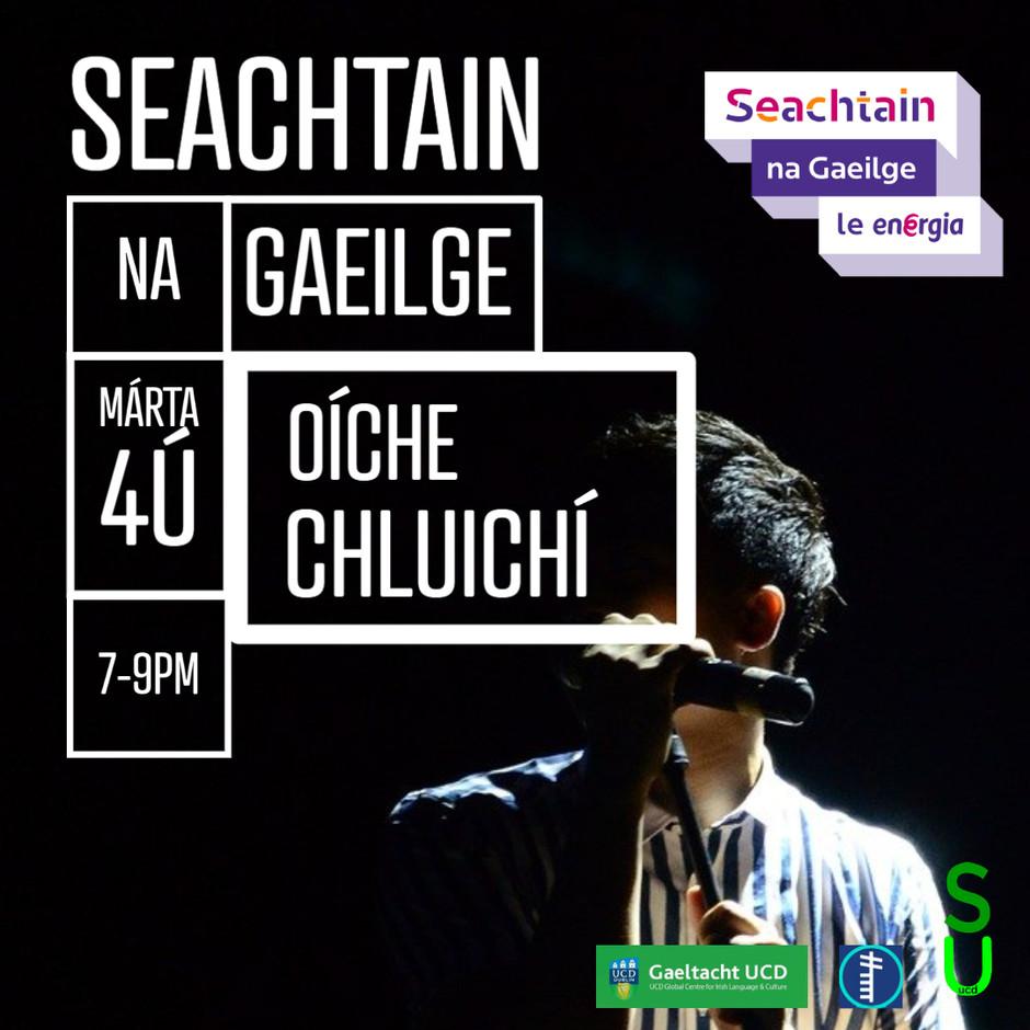 SEACHTAIN NA GAEILGE - OÍCHE CHLUICHÍ / Games Night