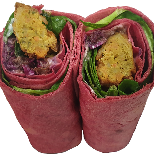 Falafel and Beetroot Wrap