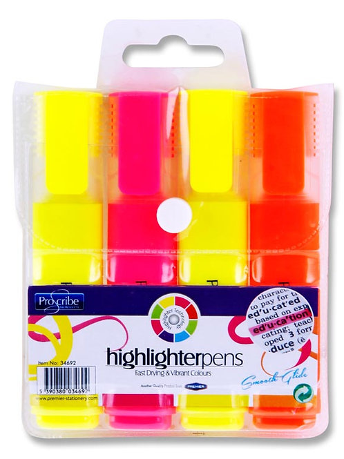 Pro:scribe Pkt.4 Highlighters
