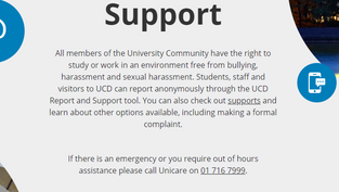 An update from Úna: Launch of UCD Report & Support Tool