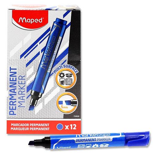 Maped Jumbo Chisel TipPermanent Marker - Blue