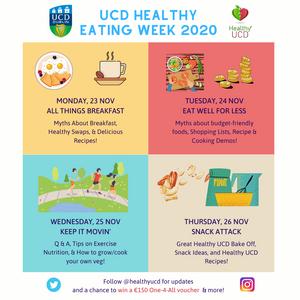 UCD Healthy Eating Week 23rd - 26th Nov 2020