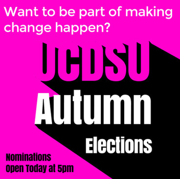 SU Autumn Elections - Nominations Open Today at 5pm