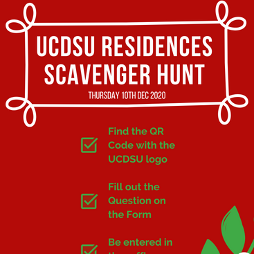 Final Day of Residences Scavenger Hunt Dec 10th 2020
