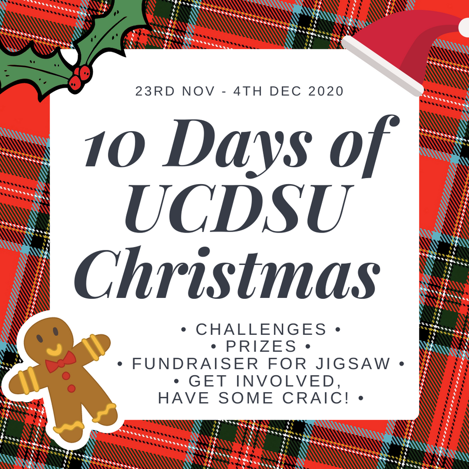 Jigsaw Fundraiser & 10 Days of UCDSU Christmas Nov 23rd 2020