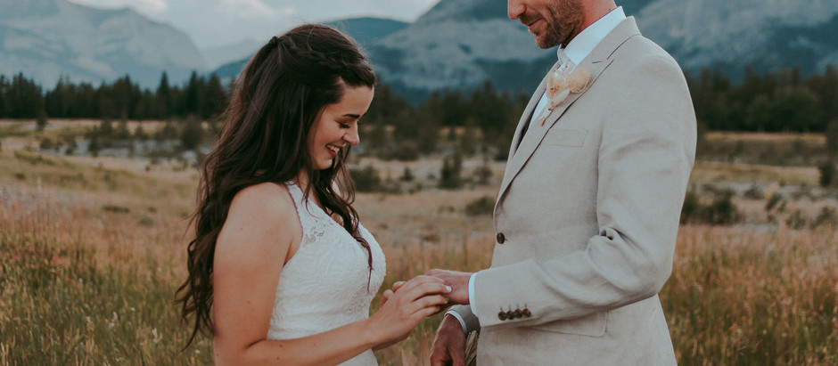 Ashley + David | Mountain Elopement Photographer | Banff, AB
