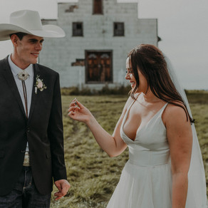 Erika + Colt | Central Alberta Wedding Photographer | Boho Western Wedding