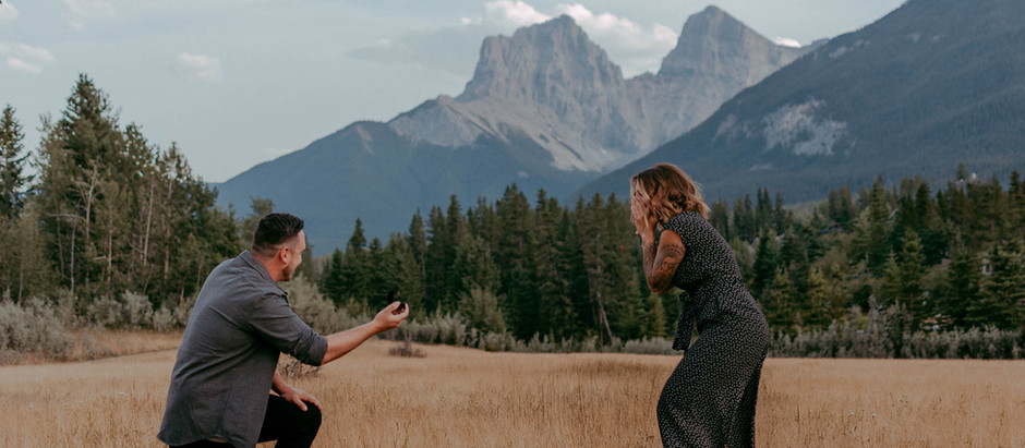 Kayla + Chris | Surprise Mountain Proposal | Canmore, AB