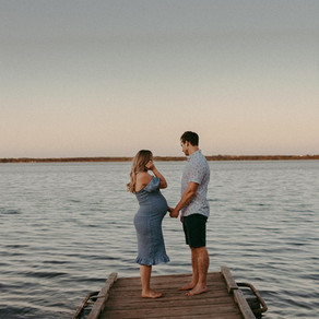 Kate + Kris + Brooks | Gull Lake, AB Beach Maternity Session