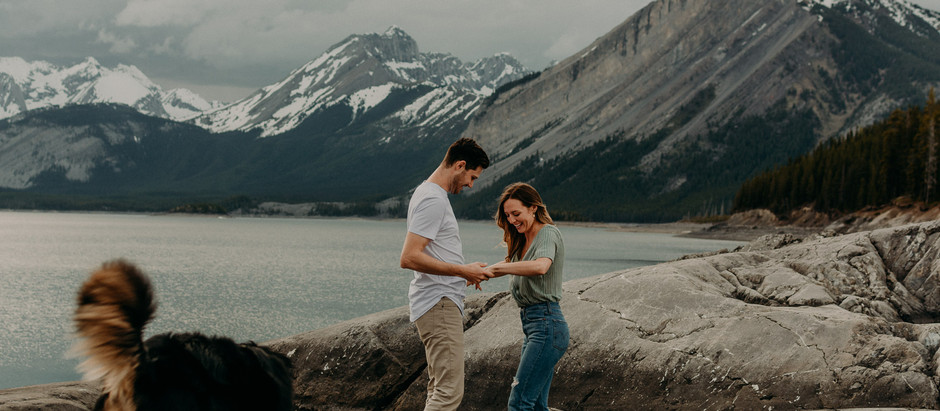 Anna + Carter | Kananaskis Engagement Session