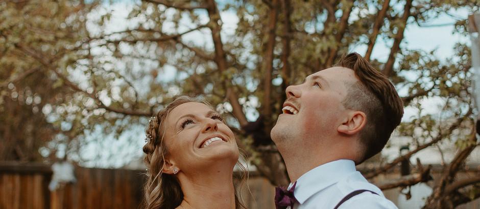 Shelby + Jesse | Lacombe, AB Intimate Backyard Wedding