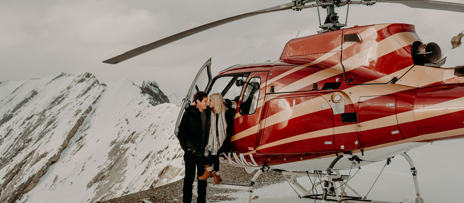 Banff Helicopter Couples Session | Chelsea + Connor