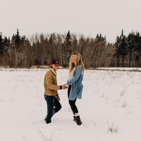 Heather + Justin   Central Alberta Couples Photographer