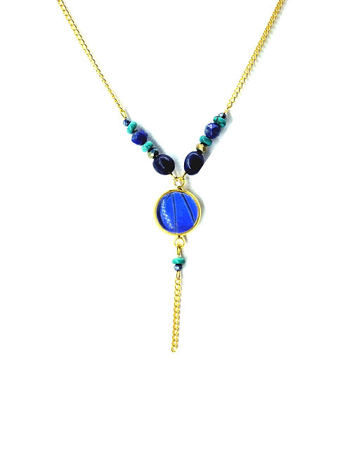 Collier Amitola Blue Morpho